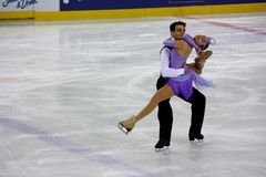 2009 championnats figurent le patinage global italien Image libre de droits