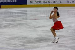 2009 championnats figurent le patinage global italien Photo stock