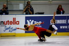 2009 championnats figurent le patinage global italien Photo libre de droits