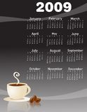 2009 coffee calendar royalty free stock photo