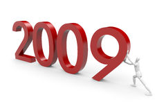 2009 is coming. New year's eve concept Stock Photography
