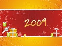2009 con i regali royalty illustrazione gratis