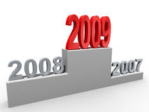 2009 concept. New year concept. Numbers on the podium. Isolated vector illustration