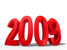 2009 concept. New year concept. Close-up. Isolated on white background royalty free illustration