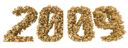 2009 from cubes Stock Image