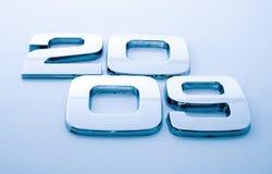 2009 cyfr metal Zdjęcie Stock