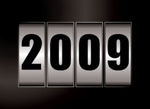 2009 date. Dials illustration with a black background Vector Illustration
