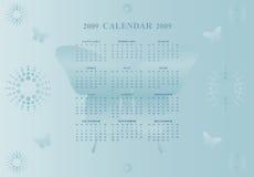 2009 de kalender van de Vlinder Stock Illustratie