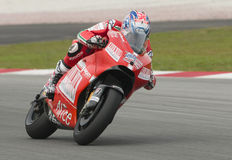 2009 Ducati Marlboro Yamaha MotoGP Casey Stoner Royalty Free Stock Photo