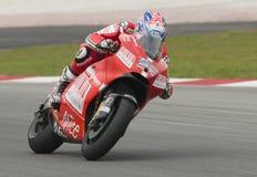 2009 Ducati Marlboro Yamaha MotoGP Casey Stoner Royalty Free Stock Photo