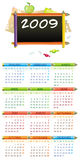 2009 educational calendar. 2009 colorful educational calendar  (Starts Monday Stock Photos