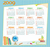 2009 educational calendar. 2009 colorful educational calendar  (Starts Sunday Royalty Free Stock Images