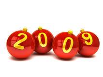 ?2009? em esferas do Natal fotografia de stock