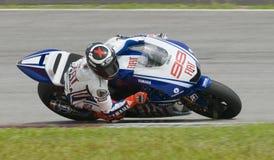 2009 espanhóis Jorge Lorenzo da equipe de Fiat Yamaha Imagem de Stock