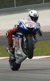 2009 espanhóis Jorge Lorenzo da equipe de Fiat Yamaha Foto de Stock Royalty Free