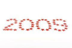 2009 estrellas en blanco Fotos de archivo