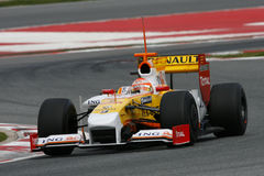 2009 f1纳尔逊piquet renault 库存照片