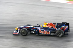 2009 f1赛跑rbr renault webber的标记 图库摄影