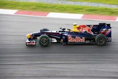2009 f1 emballant le vettel de Renault sebastian de rbr Images libres de droits