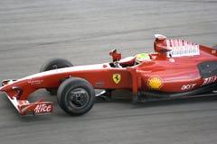 2009 f1 felipe ・ ferrari massa赛跑 库存照片