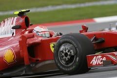 2009 f1 Ferrari kimi raikkonen scuderia drużyny zdjęcie royalty free