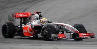 2009 f1 Hamilton Lewis mclaren Mercedes drużyny Zdjęcia Stock