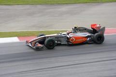 2009 f1 heikki kovalainen mclaren赛跑 免版税库存照片