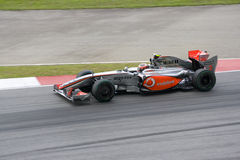 2009 f1 Heikki kovalainen mclaren l'emballage Photos libres de droits