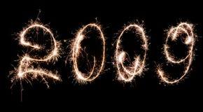 2009 feierliche Feuerwerke Lizenzfreie Stockfotos