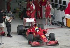 2009 Felipe Massa bij Maleise F1 Grand Prix Stock Foto