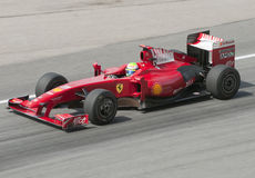 2009 Felipe Massa at Malaysian F1 Grand Prix Royalty Free Stock Photos