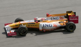 2009 Fernando Alonso bij Maleise F1 Grand Prix Stock Fotografie