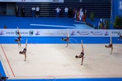 2009 filiżanek figi gimnastycznego pesaro rytmiczny świat Zdjęcie Royalty Free