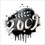 2009 film strip. Greeting card - 2009 film strip- vector vector illustration