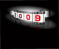 2009- film strip. Greeting card 2009- film strip - vector Royalty Free Stock Image
