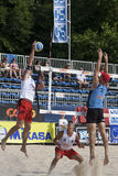 2009 FIVB CEV Lausanne Beach Volley Tournament. 2009 FIVB CEV Lausanne Beach Volley Satellite Tournament - Laciga-Bellaguarda vs Tichy-Dumek Stock Photo