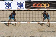 2009 FIVB CEV Lausanne Strand-Salve-Turnier Stockfoto