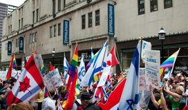 2009 flaggor ståtar stolthet toronto Arkivfoton