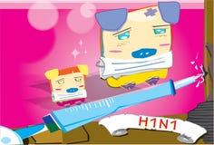 2009 Flu. Image of Swine Flu and H1N1 Virus Stock Photo