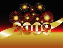 2009 fogos-de-artifício Imagem de Stock Royalty Free