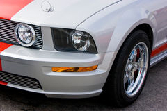 2009 Ford Mustang GT Silver & Red Royalty Free Stock Image