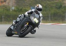 2009 French Randy de Puniet von Dauerbetrieb-Restbild Honda Motogp Lizenzfreie Stockbilder