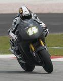 2009 French Randy de Puniet von Dauerbetrieb-Restbild Honda Motogp Lizenzfreies Stockbild