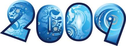 2009 fuentes del diseño gráfico stock de ilustración