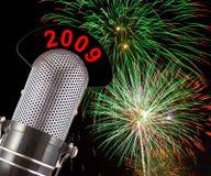2009 fuochi d'artificio Fotografia Stock Libera da Diritti