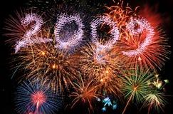 2009 fuochi d'artificio Immagine Stock
