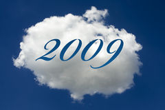 2009 geschreven op wolk Royalty-vrije Stock Fotografie