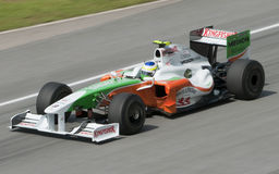 2009 Giancarlo Fisichella at Malaysian F1 GP royalty free stock image