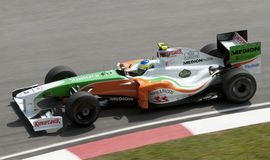 2009 Giancarlo Fisichella at Malaysian F1 GP Stock Images