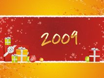 2009 with gifts. A fully scalable vector illustration of text of 2009 with gifts royalty free illustration